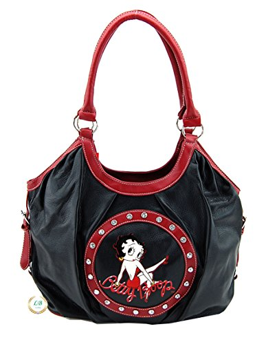 Betty Boop Large Handbag, Tote Bag Style (Betty Boop Top Zip)