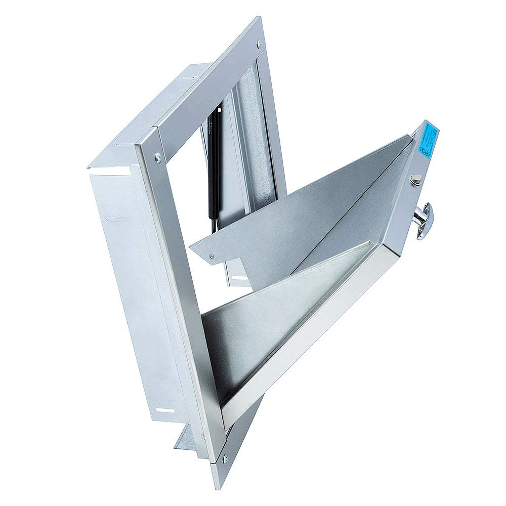 Image of Trash Chute Doors 15 x 18 Stainless Steel - Midland Style M Series Bottom Hinged UL Fire Rated Self Closing Commercial Doors