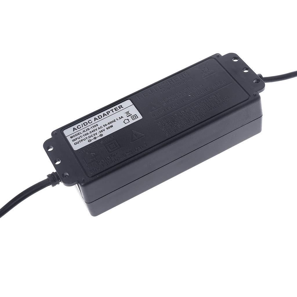 zhiwenCZW Adaptateur Secteur Ajustable avec /écran AC100V-240V vers Prise UE DC3.8V-37V
