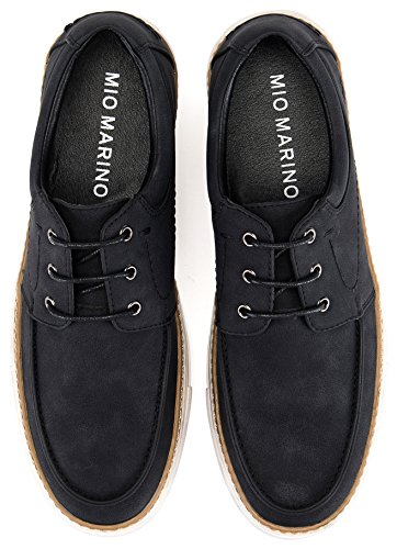 Mio Marino Casual Shoes for Men – Mens Fashion Sneakers – Casual Oxford Shoes – Black – Size US 10   UK 9.5   EU 43