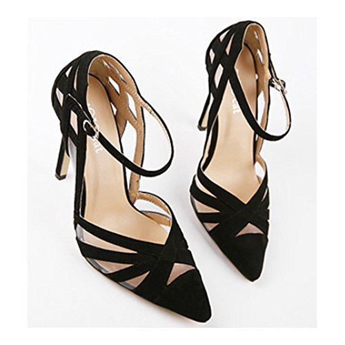 Shoes 40 Women Hollow High Pointed Heel Thin Thin nXv8xRg