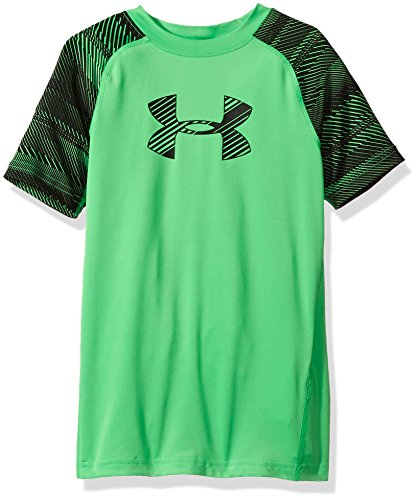 Lime Twist (Under Armour Boys' HeatGear Armour Train to Game Shirt,Lime Twist/Black, Youth X-Large)