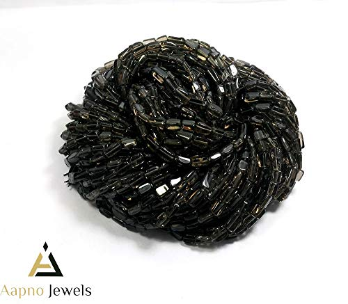 1 Strand Natural Smoky Quartz Loose Beads Strand,4x7mm-7x11mm 13 Inch Smooth Rectangle Smoky Quartz Beads, Smoky Quartz Beads Necklace, Jewelry Making Smoky Quartz Beads, Knotted Smoky Quartz Necklace