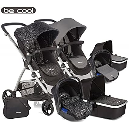 Be Cool - Coche de paseo trío slide 3 top negro/beige