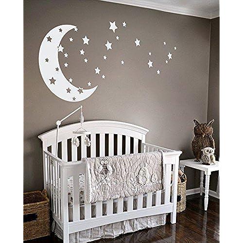 stars and moon nursery decor. Black Bedroom Furniture Sets. Home Design Ideas