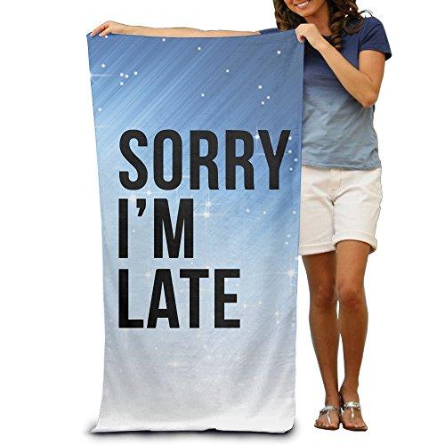 ShanxianP Sorry I'm Late Soft Absorbent Beach Towel Pool Towel (Lowrider Womens Socks)