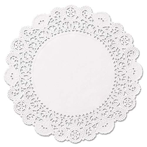 Round paper Lace Table Doilies - 12 inch White Decorative Tableware Disposable papers Placemats (pack of 100) ()