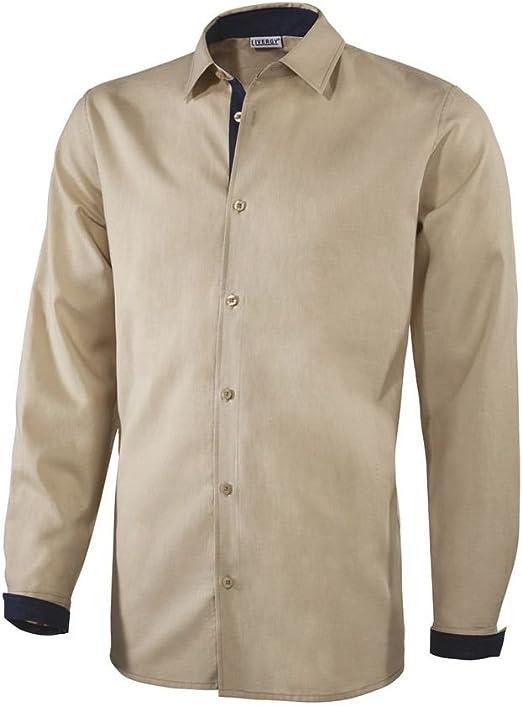 Livergy - Camisa casual - para hombre beige 46: Amazon.es ...