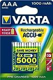 Varta Rechargeable Accu Ready2Use AAA Micro Ni-Mh Akku (4-er Pack, 1000 mAh)