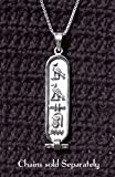 Personalized Cartouche - Solid Style - Made in Egypt and Available in Gold and Sterling Silver