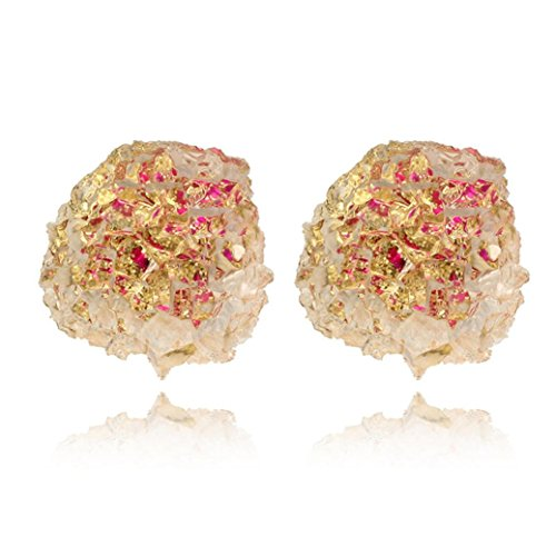 Gold Sets Ice Cracked (Respctful Fashion Summer Cool Cute Candy Ear Studs Cracked Ice Rhinestone Earrings for Women (Gold))