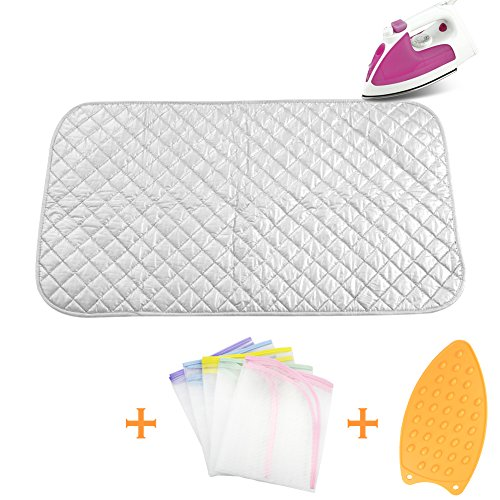 Ironing Blanket Ironing Mat,Upgraded Thick Portable Travel Ironing Pad,Heat Resistant Pad Cover for Washer,Dryer,Table Top,Countertop,Ironing Board for Small Space (18.9 x 33.5 inch