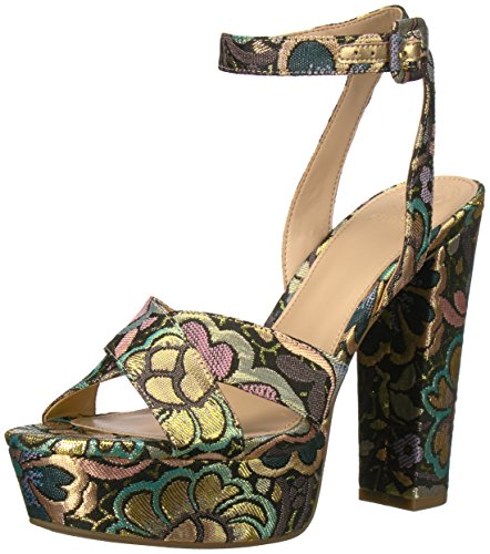 Guess Women's Powerr3 Heeled Sandal, Lavender, 6.5 Medium US