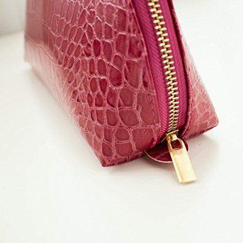 PU Krokodil-Textur Multifunktion Make-up-Tasche 4er Pack Waschbeutel Yellow