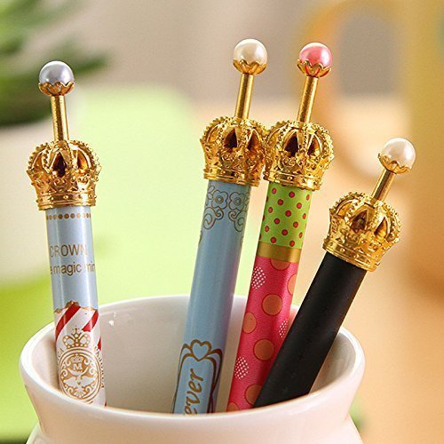 0.5 0.5mm 8pcs Imperial Princess Crown Mechanical Pencil Pencils for Girl Miss Lady 999flowers