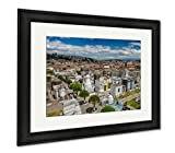 Ashley Framed Prints Overview Of Cemetary San Diego Showing Typical Catholic Graves With Large, Wall Art Home Decoration, Color, 30x35 (frame size), Black Frame, AG6523045