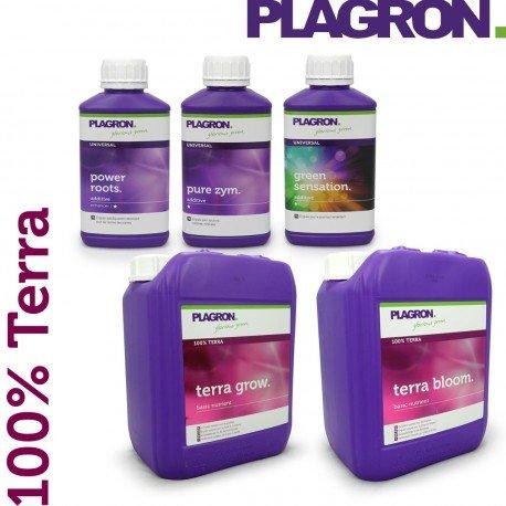 Plagron–Pack Dünger 100% Terra 5Liter–Indoor & Outdoor