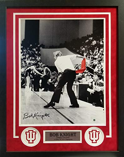 Bob Knight Indiana Hoosiers Signed Autograph Custom Framed Photo Suede Matted 26x28 Photograph Steiner Sports Certified from Mister Mancave