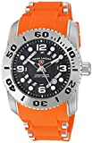 Swiss Legend Men's 'Commander Pro' Quartz Stainless Steel and Silicone Automatic Watch, Color:Orange (Model: 10069-01-OS)