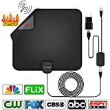 HD Indoor Digital Amplified TV Antenna with 50 Miles Range, Amplifier Signal Booster for 4K,1080P HDTV Antenna [2018 Upgraded Version]