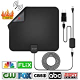 digital antenna for tv - HD Indoor Digital Amplified TV Antenna with 50 Miles Range, Amplifier Signal Booster for 4K,1080P HDTV Antenna [2018 Upgraded Version]