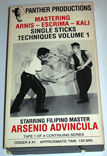 Mastering Arnis - Escrima - Kali Single Sticks Techniques Volume 1 Starring Flipino Master Arsenio Advincula (VHS)