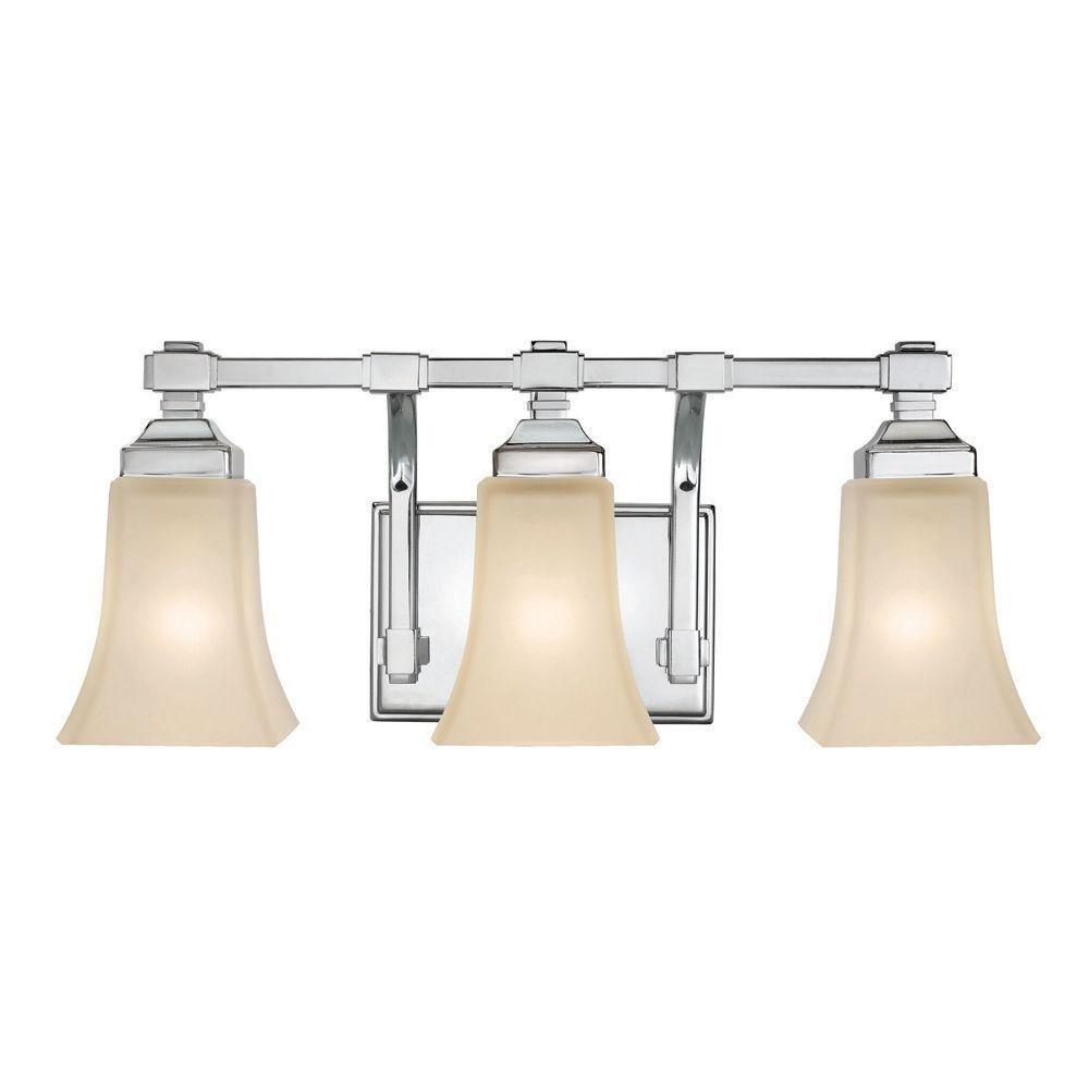 3 Light Chrome Bath Light 8 375 Hx20 Wx7 Chrome Wall Sconces Amazon Com