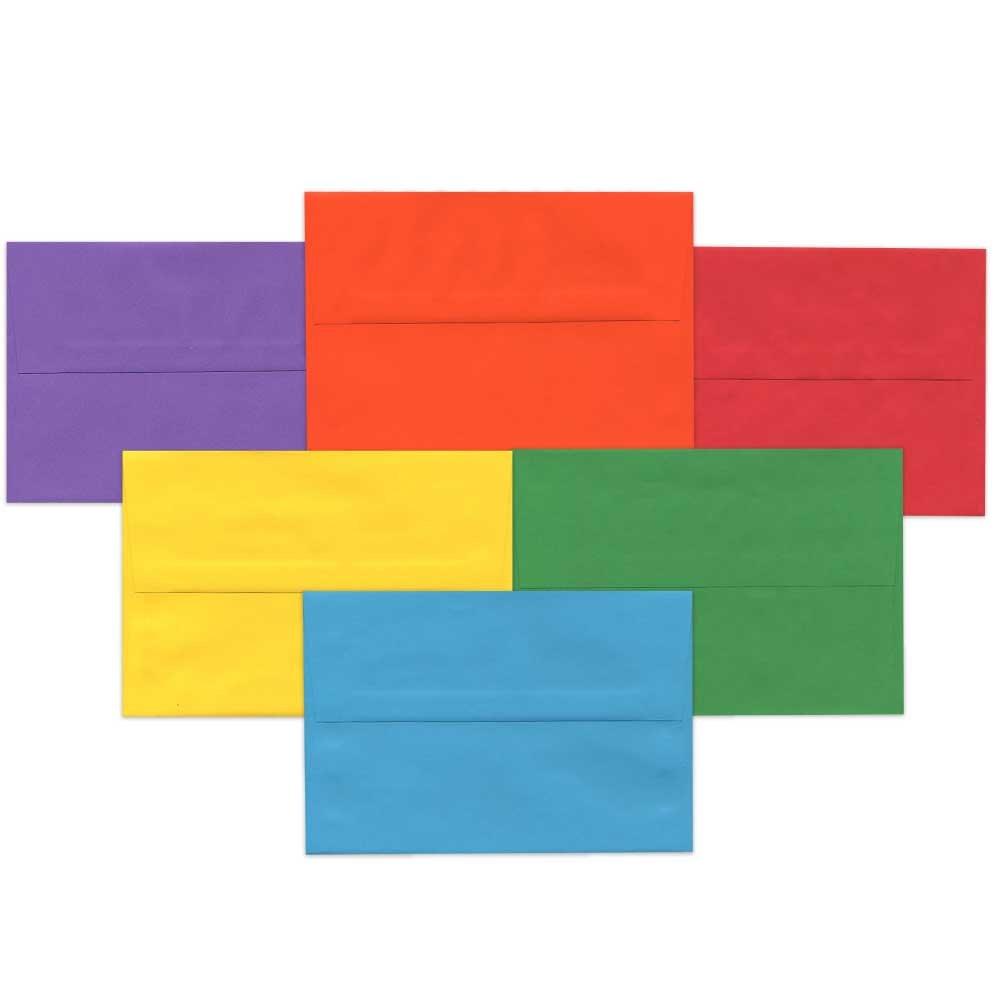 133,3 x 184,1 mm Paquete de 125 Colores Variados JAM PAPER Sobres de Invitaci/ón
