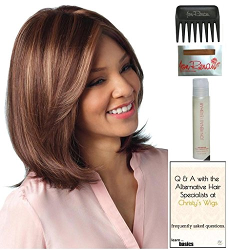 Samantha Wig by Amore, 15 Page Christy's Wigs Q & A Booklet, 2oz Travel Size Wig Shampoo, Wig Cap & Wide Tooth Comb COLOR SELECTED: VANILLA LUSH ()