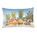 Top Carpenter Family Pineapples Velvet Oblong Lumbar Plush Throw Pillow Cover/Shams Cushion Case - 20x36in - Decorative Invisible Zipper Design for Couch Sofa Pillowcase Only