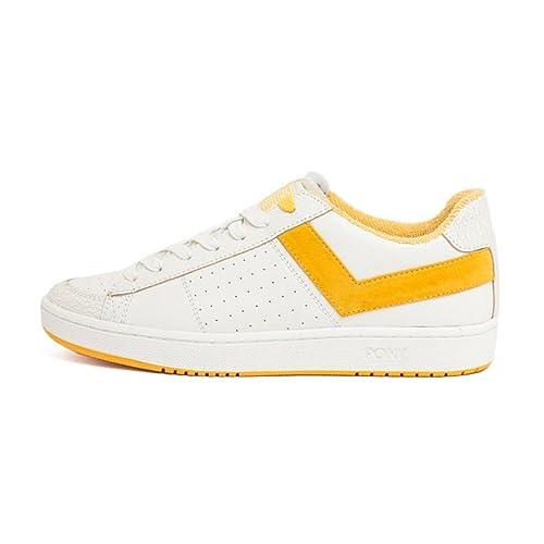 Pony - Zapatillas de Skateboarding para Hombre Blanco Bianco/Giallo Blanco Size: 42 EU: Amazon.es: Zapatos y complementos