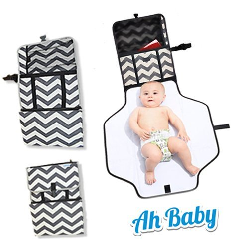 Ah Baby Portable Diaper Changing Pad For A Large, Safe, Clean Change Station Anywhere