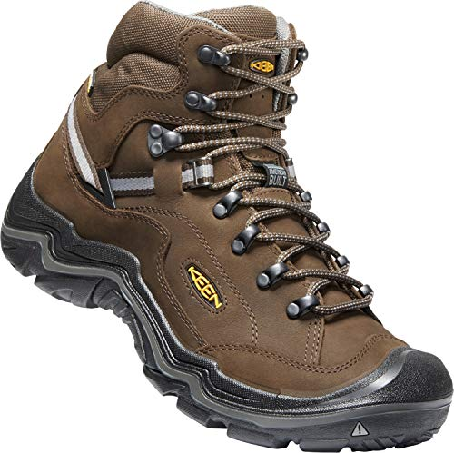 KEEN - Men's Durand II Mid WP, Waterproof Hiking Boots, Cascade Brown/Gargoyle, 11 M US (Keen Sneakers Suede)