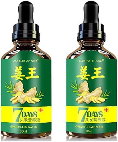 Hair Ginger Growth Serum, (2pcs) Hair Growth Oil, Natural Herbal essence Anti Hair Loss Hair Serum, Anti-Hair Loss Serum, Promote Hair Growth Strengthen Hair Roots Thickening & Regrowth-30ml