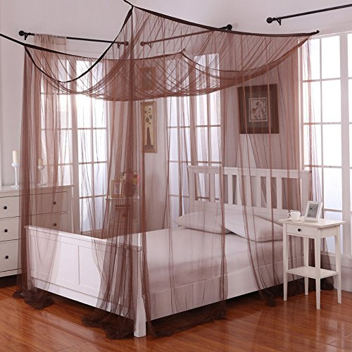 Epoch Hometex Palace Four-Poster Bed Canopy Chocolate ()