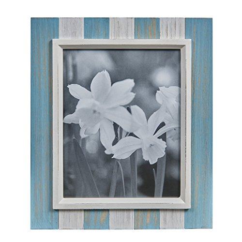 Danya B. Blue, Grey White Distressed Wood Plank 8