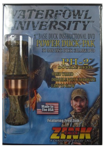 Power Duck-pak Waterfowl University Mossy Oak Duck Incalling DVD ~ Zink Calls