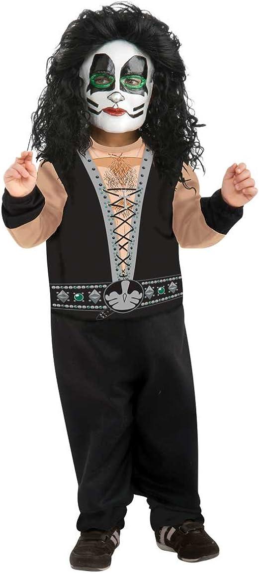 Catman Kiss Costume Adult Peter Criss Rockstar Halloween Fancy Dress