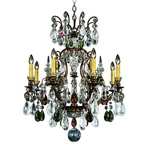- Schonbek 3571-23AD Swarovski Lighting Renaissance Rock Crystal Chandelier, Etruscan Gold
