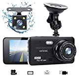 Dual Dash Cam Car Dashboard Camera Recorder FHD 1080P Front And Rear Cameras