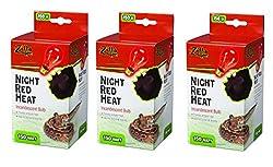 Zilla Incandescent Bulb, Night Red Heat, 150 Watt (3 Pack)