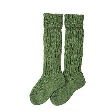 Lusana Boy's Kinder-Trachtenkniebundstrumpf Jonas Knee-High Socks Green (apfelgrün 35) L320