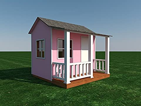 Building plans for your own Shed or Playhouse for the kids (DIY Plans) Fun to build! Cubby! (House Plans In Autocad)