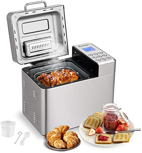 eak98shop Bread Machine Maker 2 LB Automatic Bread Maker Sta