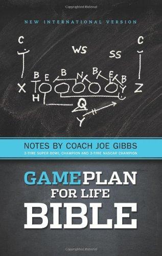 NIV, Game Plan for Life Bible, Hardcover: Notes by Joe Gibbs