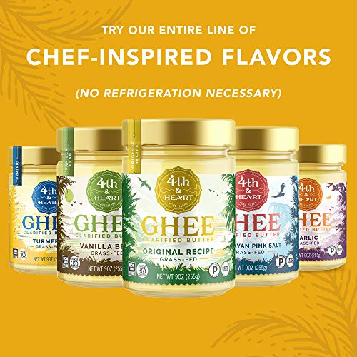 Original Grass-Fed Ghee by 4th & Heart, 16 Ounce, Keto, Pasture Raised, Non-GMO, Lactose Free, Certified Paleo 7