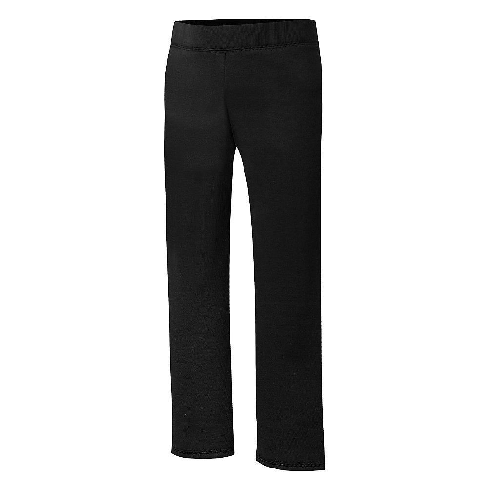 Hanes Big Girls' Comfortsoft Ecosmart Open Bottom Fleece Sweatpant_Black_XL