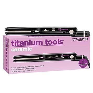Conair Pro Titanium Tools Ceramic Turbocharged Straightening Iron, 1 Inch