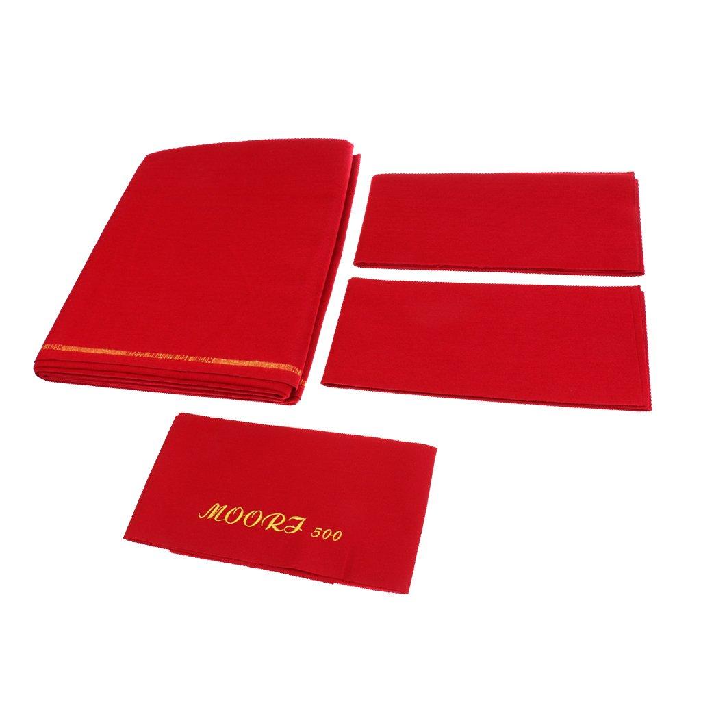 Toygogo Premium Billardtuch Abdeckplane mit Cushion Strips f/ür 9 ft Billardtisch Pooltuch