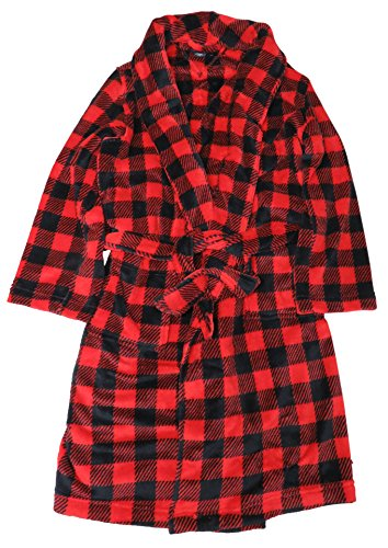 Tommy Hilfiger Men's Bathrobe,One Size, Color Red/Black